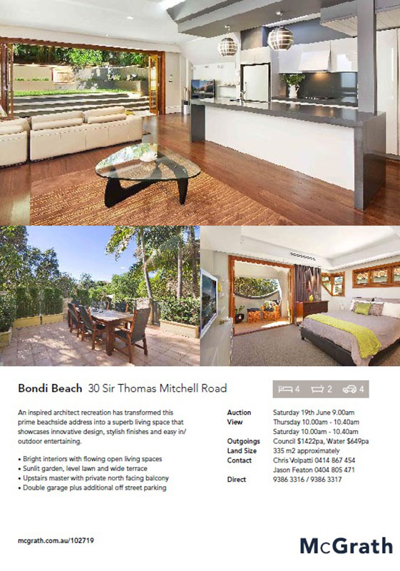 30 Sir Thomas Mitchell Road – Bondi Beach