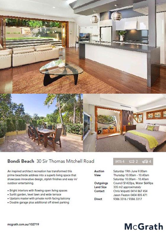 30 Sir Thomas Mitchell Road – Bondi Beach